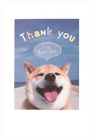 日本Gakken Shibanban 感謝彈出卡 Thank you card