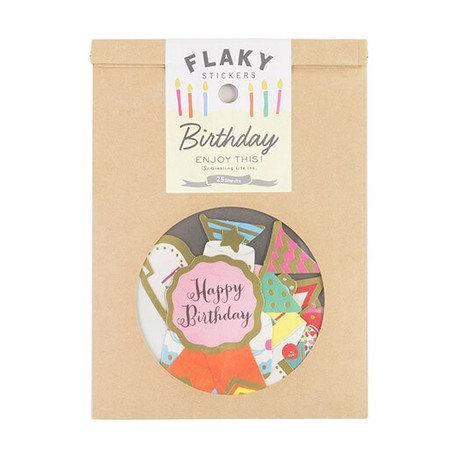 日本Greeting life Flaky stickers - Birthday 生日