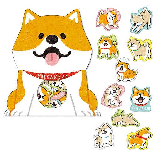 日本Mind Wave 柴犬貼紙系列