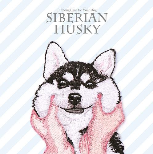 Siberian Husky 哈士奇 布刺繡裝飾貼