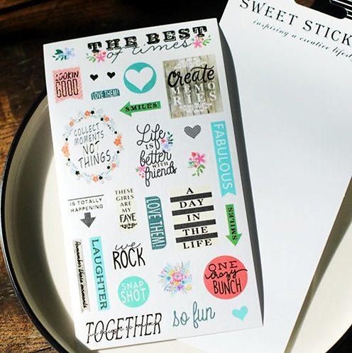 Collect Moments -  Word Sticker 貼紙
