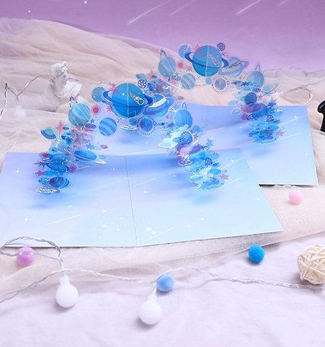 立體水晶星球 Starry Universe - 燙金祝福卡