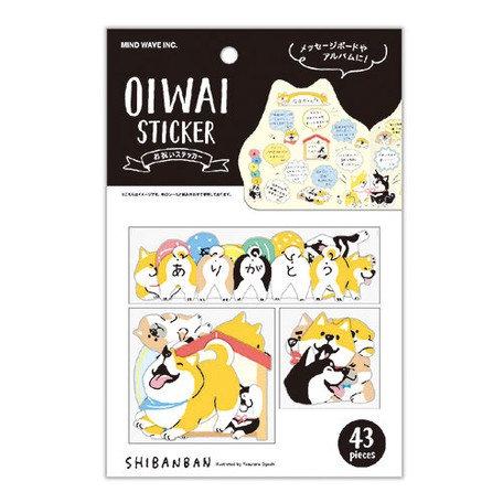 日本MINDWAVE Oiwai Shibanban Stickers 柴柴貼紙