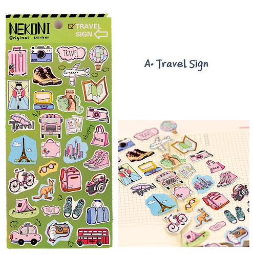 日本Nekoni Travel Sign / Movie Sign 貼紙
