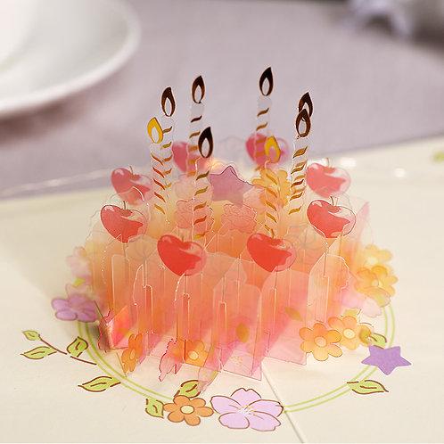 生日蛋糕 Golden Cake 3D立體卡