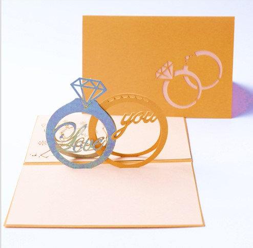 愛是永恆 Love Rings  3D立體卡