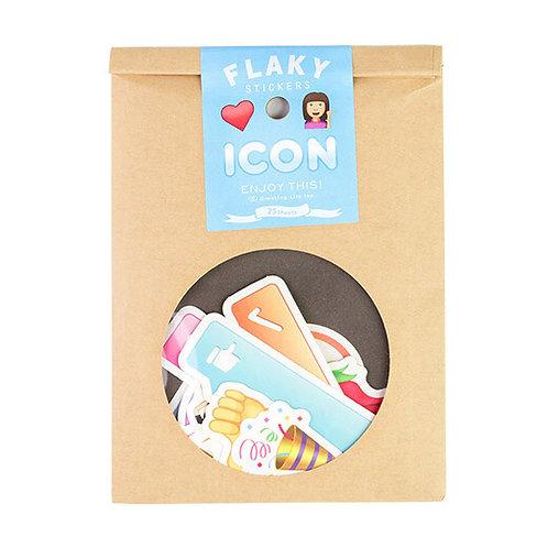日本Greeting life Flaky stickers - Icon