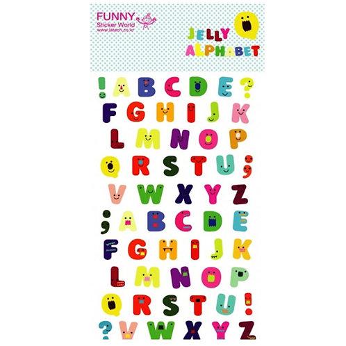 韓國Funny Sticker 字母貼 - Jelly Alphabet