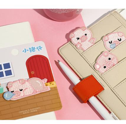 Little Piggy 小豬 布刺繡裝飾貼