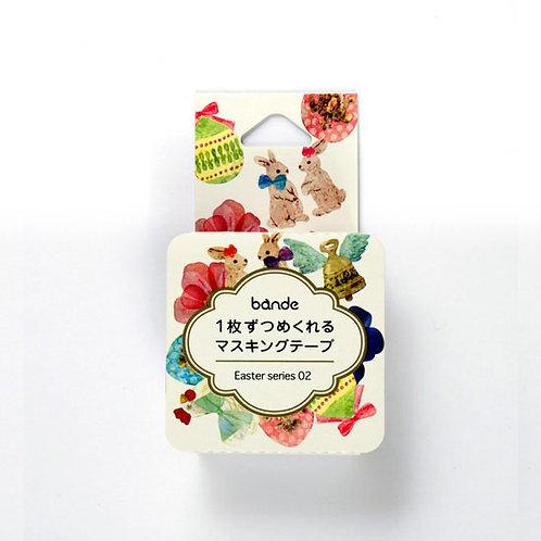 日本Bande 復活兔兔 Easter Rabbit 和紙膠帶MT