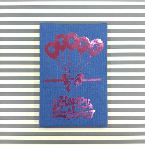 Birthday Balloon 生日小小汽球 - 燙金麻布相簿 (單買相簿)