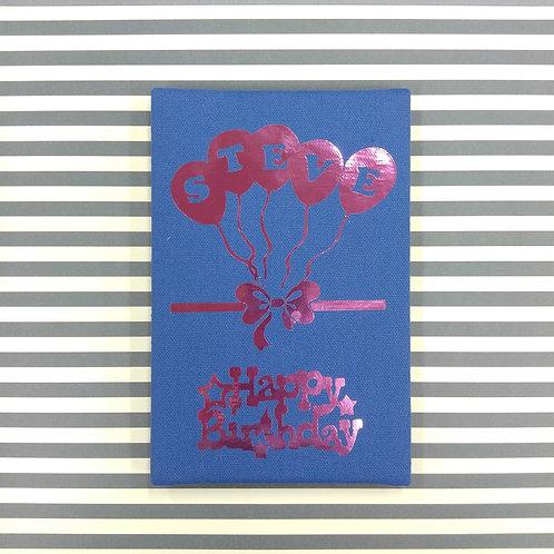 Birthday Balloon 生日小小汽球 - 燙金麻布相簿 - DIY相簿放題