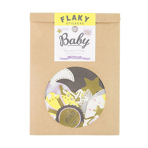 日本Greeting life Flaky stickers - Baby 嬰兒