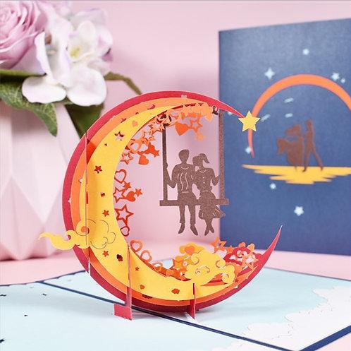 Romantic Starry Night 星空夜 3D立體卡