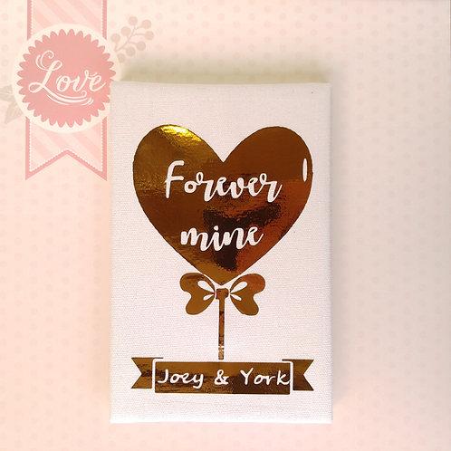 物輕情義 Forever Mine - 燙金麻布相簿 (外帶生日主題材料包)