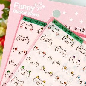 韓國 Funny表情貼 2張入