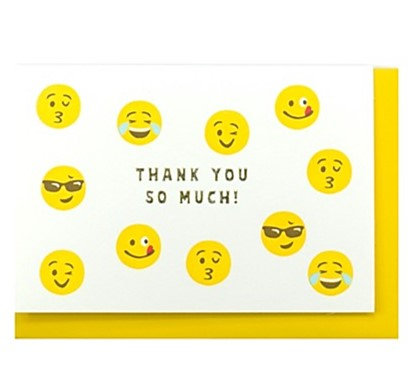 日本Emoji Thank You Card 感謝卡