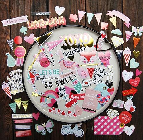 Oh So Sweet! Bits Diecut Stickers 貼紙 (70入)