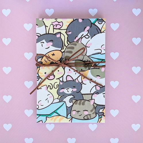 手工和風布藝相簿 - 喵喵物語 Meow Story (外帶生日主題材料包)