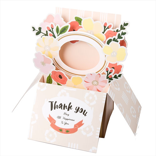 Aiueo - Popup Card Box 相片卡禮盒 (Thank You May All Happiness to you)