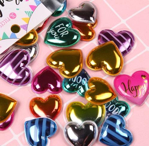 Balloon Seal Flake (Heart) 汽球泡泡貼 (36枚)