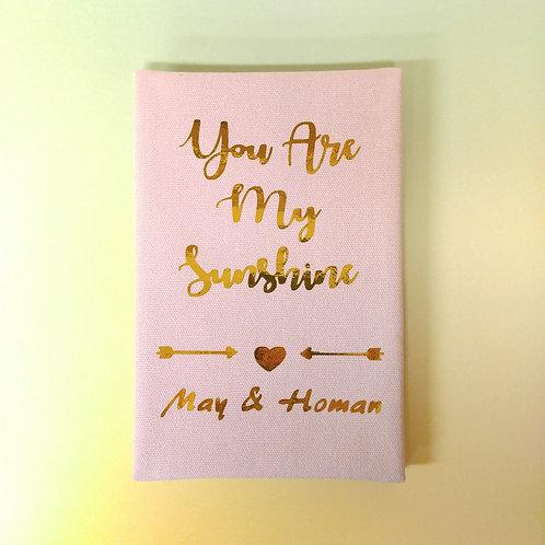 You are my Sunshine 愛是陽光 - 燙金麻布相簿 - DIY相簿放題