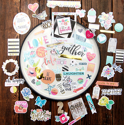 Collect Moments! Bits Diecut Stickers 貼紙  (70入)