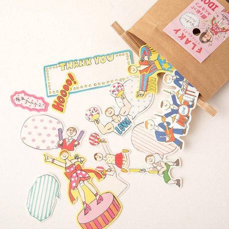 日本Greeting life Flaky stickers - Idol 偶像