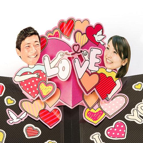 日本AIUEO - Face in Pop-up - Love You