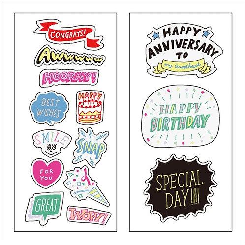 日本Mark's Decora Stickers - Anniversary