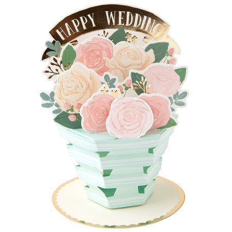 日本Greeting Life - Flower pot card 盆栽卡 - Happy Wedding 婚慶快樂