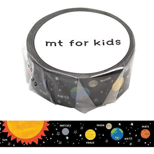 日本masking tape 太陽系 Planets  和紙膠帶MT