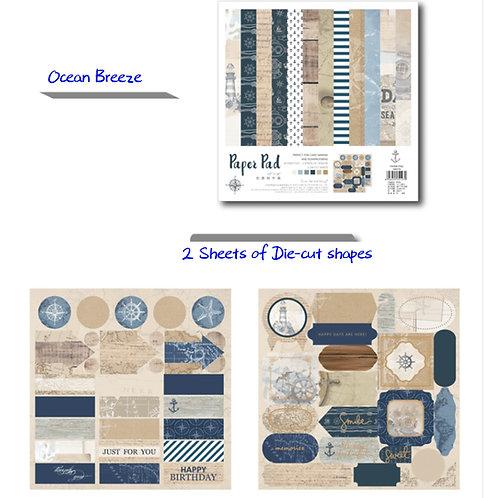 Ocean Breeze - Paper Pad 25.5cm  正方卡紙本