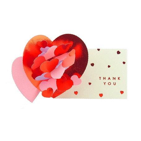 日本Greeting Life pop up card 謝謝你彈出卡