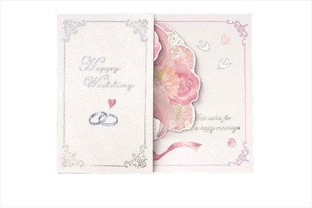 日本Gakken Sta - Happy Wedding 玫瑰立體結婚卡