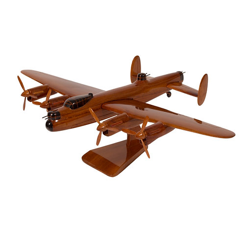Mahogany Avro Lancaster Wooden Model