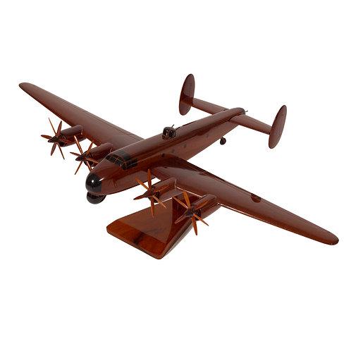 Mahogany Avro Shackleton Wooden Model