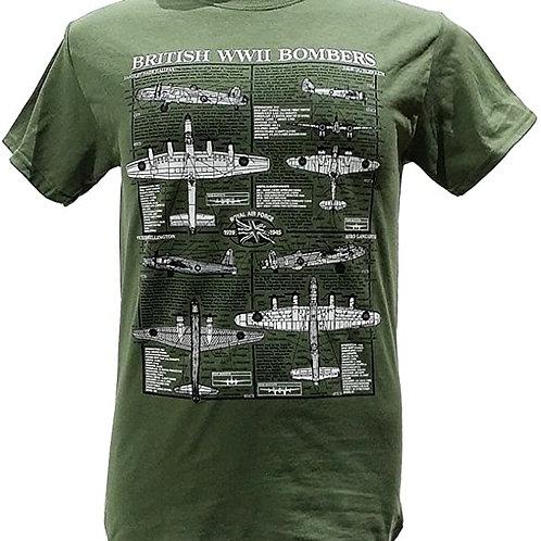 British WWII bombers T shirt