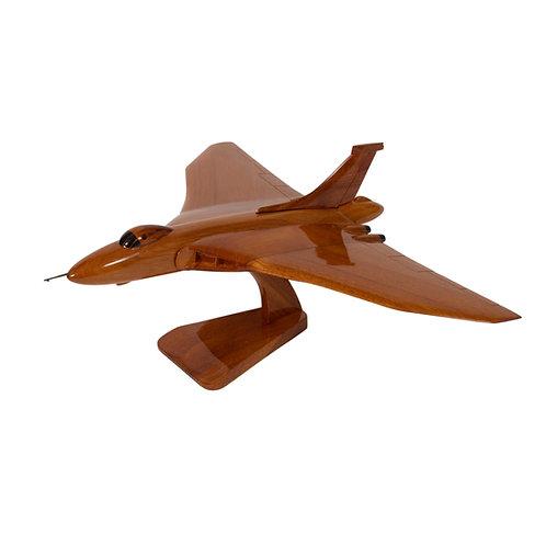 Mahogany Avro Vulcan Wooden Model