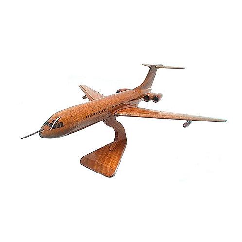 Mahogany Vickers VC10 Wooden Model