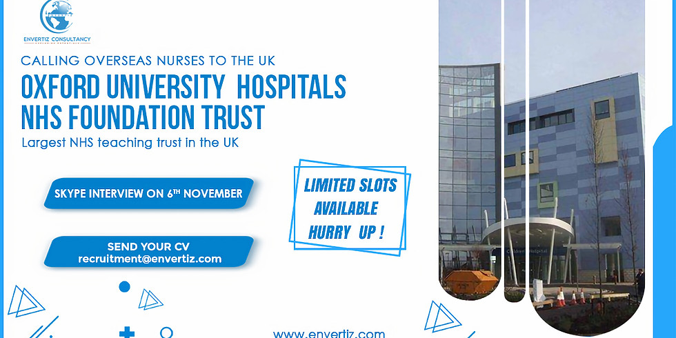 Direct Skype Interview with Oxford University Hospitals