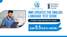 NMC Updates the English Language Test Score