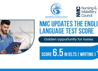 NMC Updates the English Language Test Score