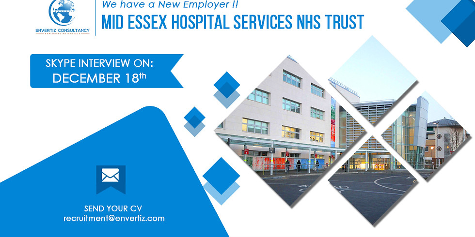 Direct Skype Interview with Mid Essex Hospital Services NHS Trust