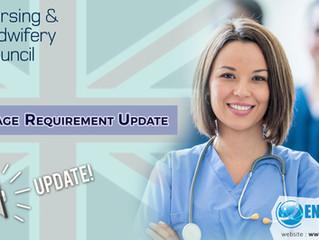 NMC English Language Update