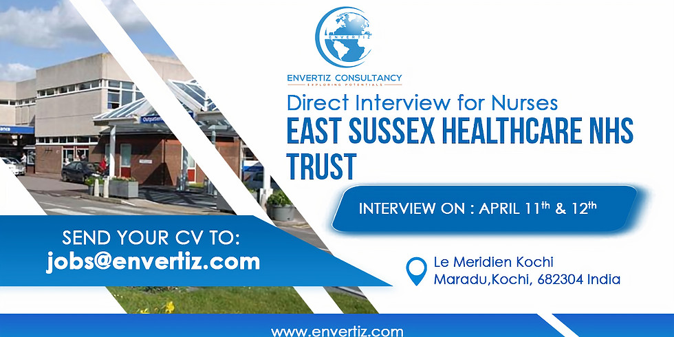 Direct Interview for Nurses - East Sussex Healthcare NHS Trust