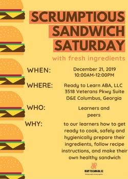Yellow Burger Fundraising Flyer
