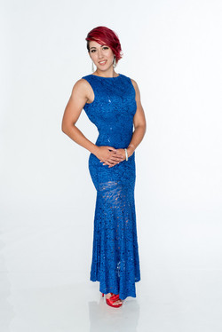 Blue Dress Glamour