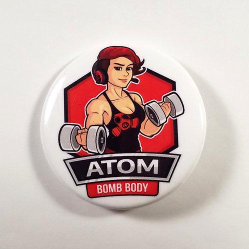 Atom Bomb Body Button (Old Logo)