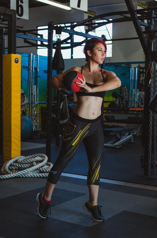 Fitness Model Medicine Ball
